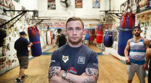 Carl Frampton pictured training at Church Street Boxing Club in New York ahead of his WBA featherweight title fight against Leo Santa Cruz at the Barclay Centre, Brooklyn, NY on Saturday night. Press Eye - Belfast - Northern Ireland - 27th July 2016 - Photo by William Cherry