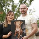 Leonard Collins and Joanne Medows from east Belfast after they found out that their pet dog Hank has been saved. Pic by Peter Morrison