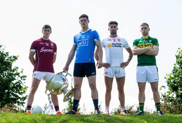 To the four: Galway's Shane Walsh, Dublin's Diarmuid Connolly, Tyrone's Tiernan McCann and Kerry's Peter Crowley are still in the hunt to land the Sam Maguire Cup