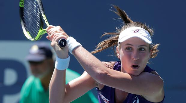 Red-hot: Johanna Konta is into the third round of the Rogers Cup