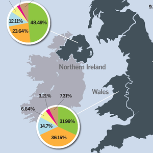 The map shows the genetic breakdown of people across the UK, with some surprising results