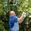 Driving ahead: Rory Best tees off at the first hole at Belvoir Park Golf Club
