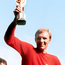 Golden day: Bobby Moore lifts the Jules Rimet trophy in 1966