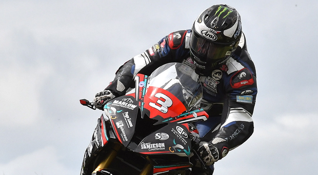 Full speed ahead: Michael Dunlop won both Superbike races at the Armoy meeting on Saturday