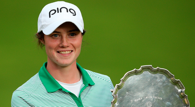Major effort: Leona Maguire poses with the amateur trophy