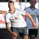 Explosive start: Zlatan Ibrahimovic netted an eye-catching early strike