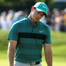 Major problems: Rory McIlroy's putting misery is one of the reasons why he hasn't won a Major title since the 2014 Open at Hoylake