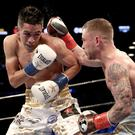 Leo Santa Cruz struggles to cope with the Jackal's pace and power