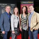 Dougie Adams, Jane Adams, Cathy Gormley-Heenan and Ronan Heenan are pictured at the film premiere of Bobby Sands: 66 Days at the Omniplex Cinema at the Kennedy Centre in west Belfast. The premiere was hosted with Féile An Phobail and West Belfast Film Festival. Photo by Kelvin Boyes / Press Eye