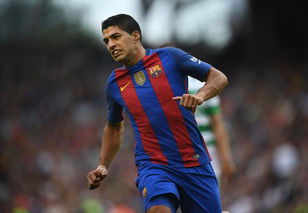 DUBLIN, IRELAND - JULY 30: Luis Suarez of Barcelona during the International Champions Cup series match between Barcelona and Celtic at Aviva Stadium on July 30, 2016 in Dublin, Ireland. (Photo by Charles McQuillan/Getty Images)
