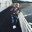 Plain sailing: Nacho Novo was on the Stena Line ferry to Belfast yesterday