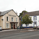 The cordoned off Carlton Hotel, Belleek, Co Fermanagh, where the shooting took place.