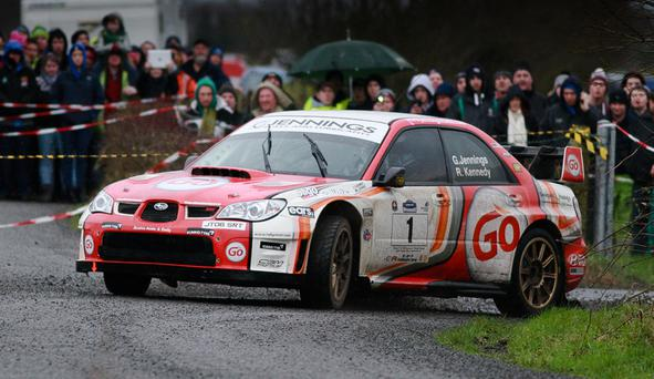 On the move: Garry Jennings is a two-time Ulster Rally winner in his Subaru but he's planning a surprise switch for this year's glory bid