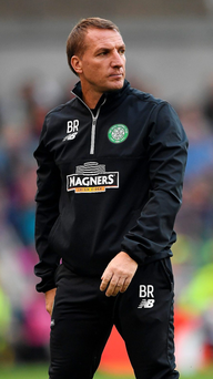 Fan-tastic: Brendan Rodgers feels the big crowd at Parkhead tonight can give his Hoops side an advantage against Astana in the Champions League qualifier