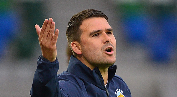 Calling the shots: boss David Healy is eager for Linfield to lift silverware this season after finishing as runners-up in three competitions last term