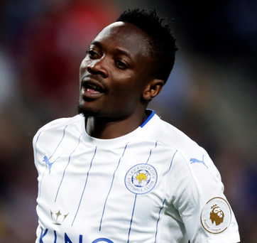 Brace: Ahmed Musa on the way to a double against Barcelona last night