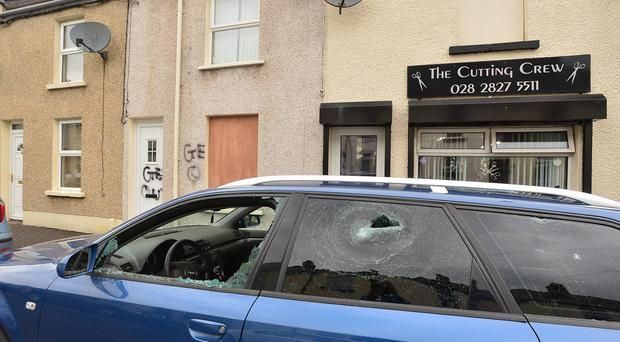 A house and car was targeted in a racist hate crime over night in Larne. Pacemaker Press Belfast: Arthur Allison 04-08-2016.
