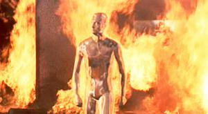 'Using the fundamentals of this discovery, it may be possible to build a 3D liquid metal humanoid like the T-1000 Terminator,' professor says. Image: Carolco Pictures Inc
