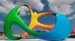 General view of Rio 2016 signage, Brazil. PA