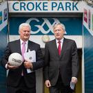 New proposals: GAA Director General Paraic Duffy and GAA President Aogan O'Fearghail unveil their discussion document for a new-look All-Ireland Championship at Croke Park