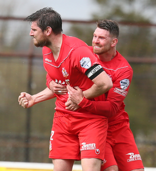 Cause for celebration: Shamrock Park chiefs believe that better times are just around the corner for Portadown