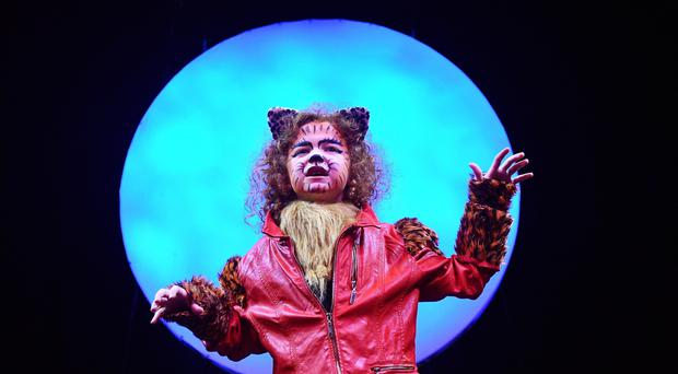 Emma McEvoy from Michael's in Belfast , during a dress rehearsal of the youth production of iconic West End show CATS at the SSE Arena in Belfast. Pic Colm Lenaghan/Pacemaker
