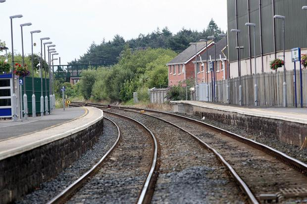 The train line between Lisburn and Portadown was closed due to the security operation in Lurgan. Picture by Freddie Parkinson/Press Eye