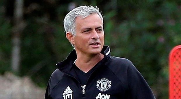 Calling the shots: Jose Mourinho takes training ahead of the Community Shield
