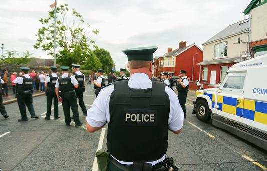 Twadell Avenue protest in north Belfast (Saturday 6th August 2016 - Presseye News )