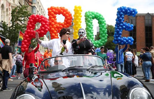 Belfast Pride Festival 2016: Thousands of people take part in the annual Belfast Pride event in Belfast city centre celebrating Northern Ireland's LGBT community. Photo by Kelvin Boyes / Press Eye