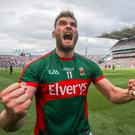 Mayo's Aidan O'Shea celebrates after the game