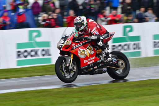 Best man: Glenn Irwin, main pic and below, posted best finish of local riders at Brands Hatch yesterday