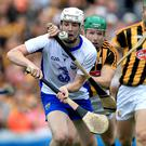 Eye on the ball: Waterford's Shane Bennett battles Kilkenny's Paul Murphy