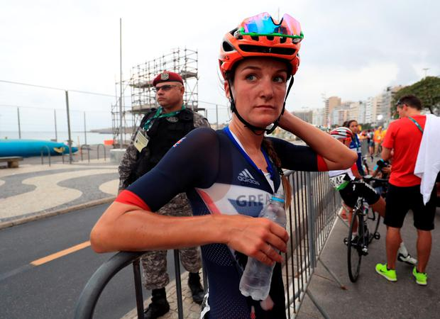 Great Britain's Lizzie Armitstead following the Women's Road race on the second day of the Rio Olympics Games
