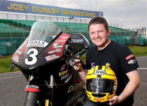 A proud Gary Dunlop inherits legendary father Joey's number and trademark yellow helmet for Ulster GP debut