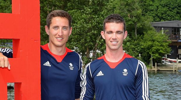Long wait: Richard Chambers and Will Fletcher's quest for gold was disrupted by windy weather