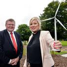 Powering Health: SSE Airtricity's General Manager (NI), Andrew Greer with Health minister Michelle O'Neill.