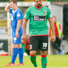 Nacho Novo made his debut for Glentoran on Saturday