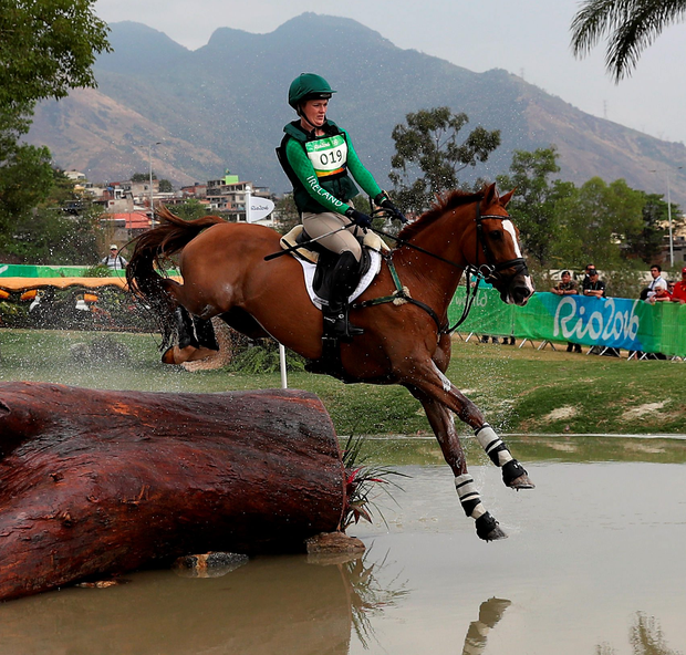Local heroes: Clare Abbott on Europrince in the Eventing in Rio yesterday