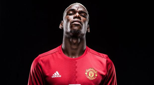 Back in the red: Paul Pogba has returned to Manchester United
