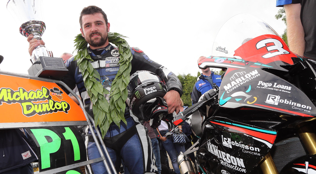 Silver machine: Michael Dunlop has already lifted a plethora of trophies in a stunning season and aims to collect more this week
