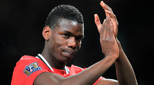 United I stand: Paul Pogba before he left Manchester United four years ago