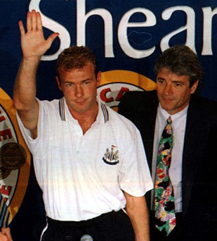 Memories: Alan Shearer, with boss Kevin Keegan, hails Newcastle fans