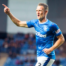 Fitting in: Clint Hill bagged a brace against Peterhead