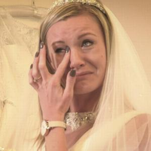 Kloe breaks down in tears when she realises she's not going to get the wedding she's dreamed of. Photo: Sky One / Don't Tell The Bride