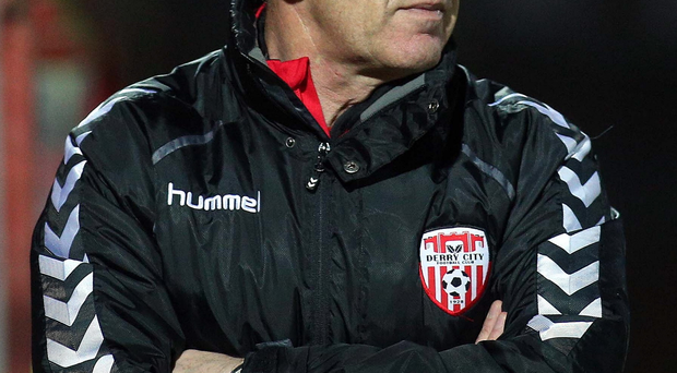 Nail biting: Derry City boss Kenny Shiels has a selection headache