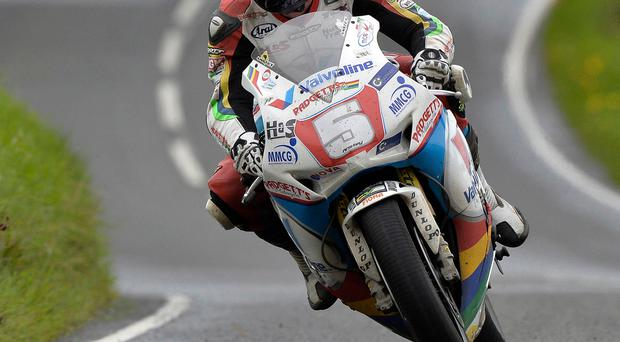 Point of concern: Bruce Anstey felt it was too dangerous to continue the Dundrod 150 Superbike race due to a reduction in light