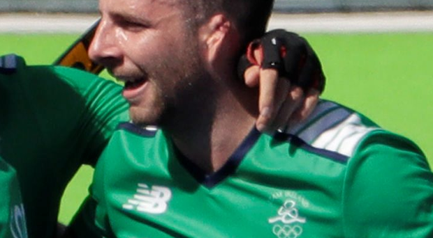 Crucial goal: Ulsterman Peter Caruth celebrates scoring Ireland's third