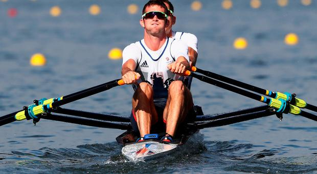 Double trouble: Ulsterman Richard Chambers and Will Fletcher just miss out in the lightweight double sculls semi-final in Rio yesterday