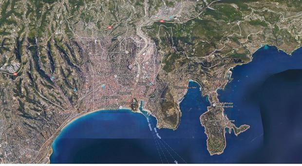The incident happened at Saint-Jean-Cap-Ferrat near Nice. Pic: Google Earth